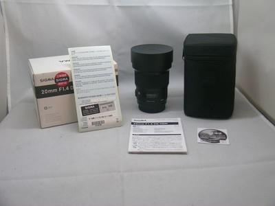 出售 99新 适马 20mm F1.4 DG HSM ART 佳能口 包装齐全