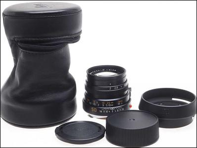 徕卡 Leica M 50/2 IV 内凹虎爪 带光罩 皮套