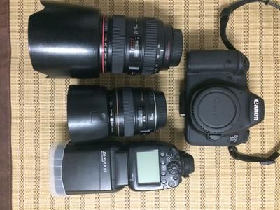 佳能 6D、85/1.8、24-70/2.8、600EX-RT闪光灯