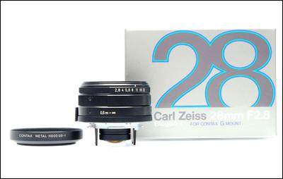 康泰时 Contax G 28/2.8 Biogon T* 黑色 带包装