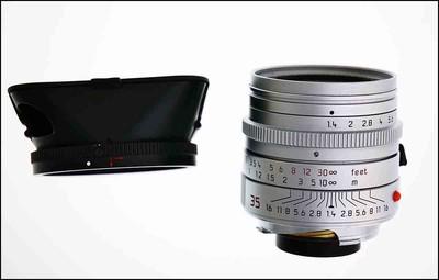 徕卡 Leica M 35/1.4 SUMMILUX-M ASPH 全铜银色 带光罩