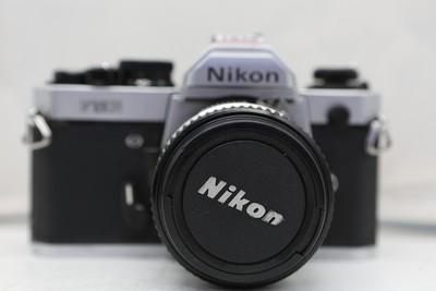 95新二手Nikon尼康 FM2 套(50/1.4)胶片机铝帘(1838)【深】