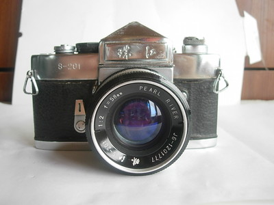 很新珠江S201金属制造单反相机带58mmf2镜头,收藏使用上品