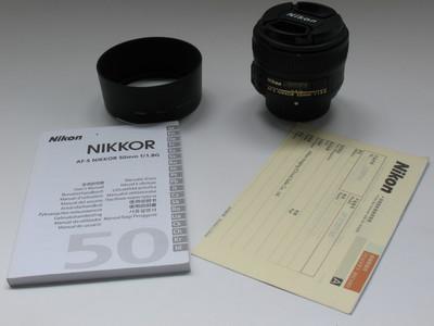 成色极好国行尼康AF-S 50 F1.8G 标准人像头 带保卡 支持置换0744