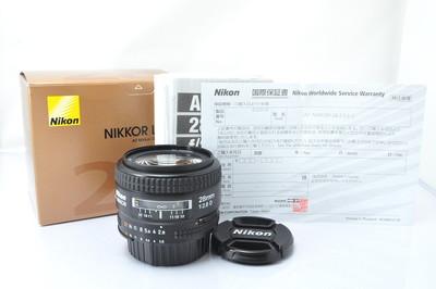 尼康镜头 AF 28mm f/2.8D 99新带原包装盒说明书,没有使用痕迹
