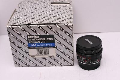 柯尼卡 KONICA M 28/2.8 28mm2.8 徕卡M口 99新 带包装