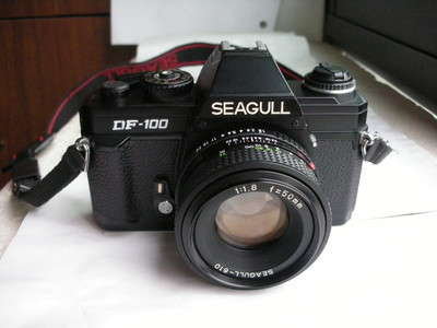 极新少见海鸥DF--100机械快门单反相机带50mmf1.8镜头,收藏使用