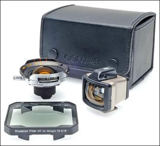 康泰时 Contax G 16/8 Hologon T* 广角镜头 带取景器 滤镜 皮盒