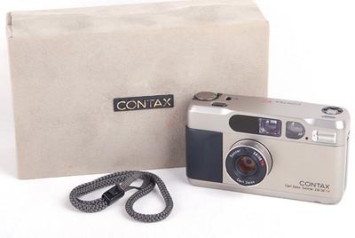 【美品】Contax T2 香槟色 双齿版 带包装 #jp18219