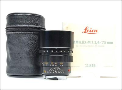 徕卡 Leica M 75/1.4 SUMMILUX-M 原厂6-BIT 加产 方字版 带包装