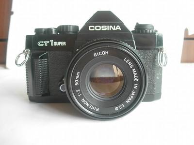 较新确善能CT--1超级单反相机带理光50mmf2镜头,收藏使用