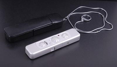 美乐时 C型银色 带15/3.5镜头间谍相机皮套背链#jp19102