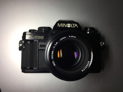 Minolta X-700  MD 50 1.4  MD28 2.8 黄标