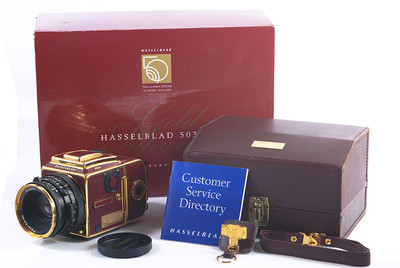 五十周年版 Hasselblad/哈苏 503CW+CF T* 80/2 金色套机#HK7292