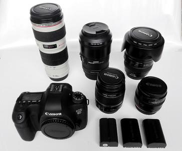 佳能 6D包装齐全+送2电池  佳能24-105 F4/70-200 F4镜头