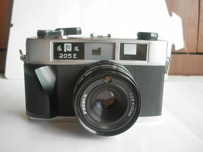 很新凤凰205E金属造相机,有测光,多次曝光,把手,收藏使用