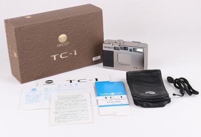 美能达 TC-1 28/3.5 香槟色胶片机带手绳 原包装#jp18631