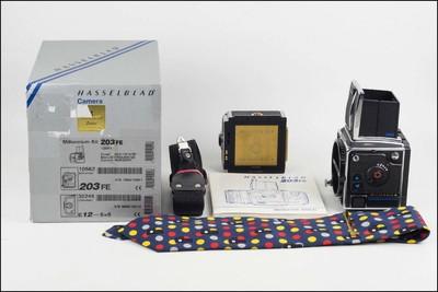 哈苏 Hasselblad 203FE + E12 千禧机 带包装 带罕见领带