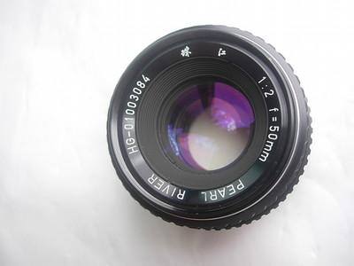 很新早期珠江50mmf2镜头,PK卡口,可转接各种数码相机