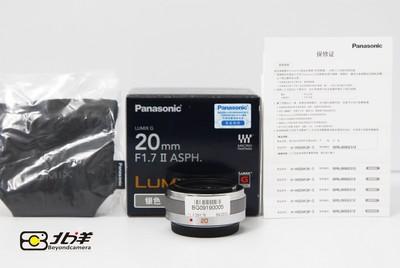 99新 松下 Lumix G 20/1.7 II ASPH行货带包装(BG09190005)