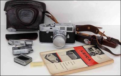 徕卡 Leica M2 + M 50/2 DR 套机 带眼镜 测光表 皮套