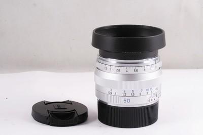 98/卡尔·蔡司 C Sonnar T* 50mm f/1.5 银色  徕卡ZM口  带遮光罩