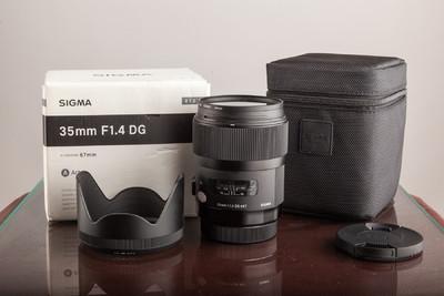 适马35mm F1.4 DG ART镜头 99新  佳能口