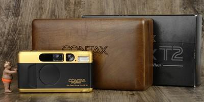 CONTAX 康泰时 T2 60周年纪念版 箱说全 几乎全新!!!