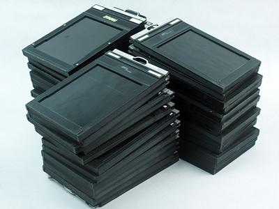 多种品牌的  4x5 片夹片盒 美品!