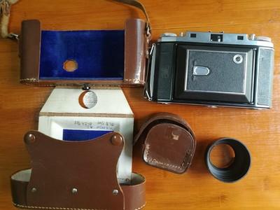 收藏成色的蔡司依康524/2八大张6*9折叠相机