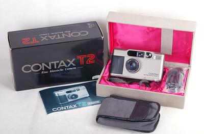 【特价】Contax/康泰时 T2 sonnar 38/2.8 T* 银色相机#jp18085