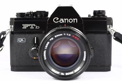 佳能 Canon FTB 日产135胶片单反相机 + FD SSC 50/1.4镜头 黑