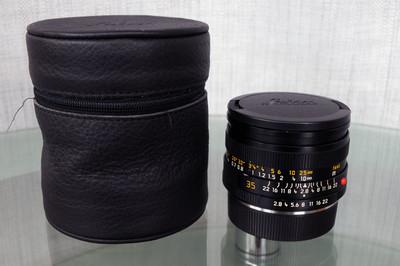 Leica ELMARIT R 35 2.8 E55 方字版、35号段LEICA标识