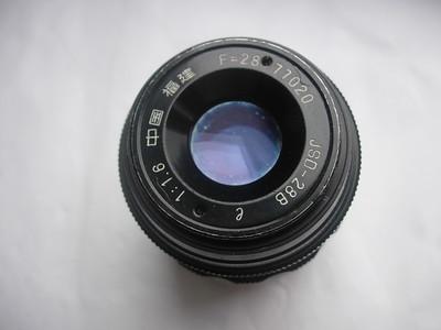 较新中国福建产28mmf1.6金属制造镜头,收藏使用