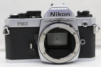 95新二手Nikon尼康 FM2 套(50/1.4)胶片机钛帘(1836)【深】