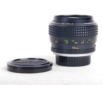 【美品】Minolta/美能达 MC rokkor 58/1.2大光圈标镜 #HK7156