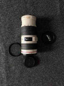 自用很新很新的小小白转让爱家留步佳能 EF 70-200mm f/4L IS USM