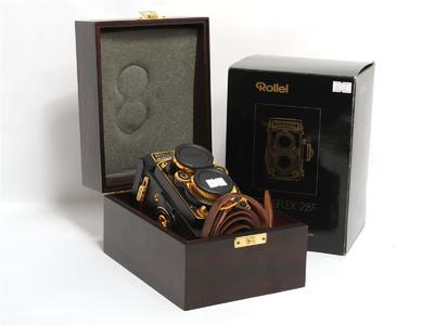 禄来/Rolleiflex 2.8F Aurum金机带Xenotar 80mm鏡頭 *超美品*