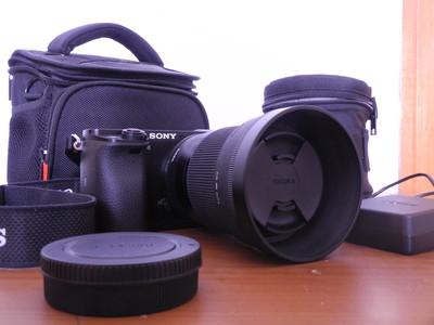 索尼 a6000 Sony ILCE-6000 适马30mm F1.4 套机 安装所有付费APP
