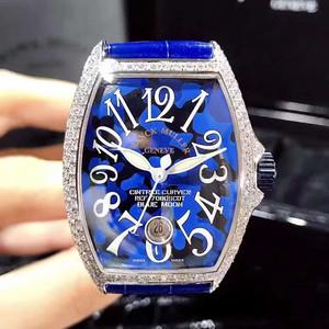 【全新】法兰克穆勒 FM7080钻石自动机械日历蓝色月亮特别版#FM