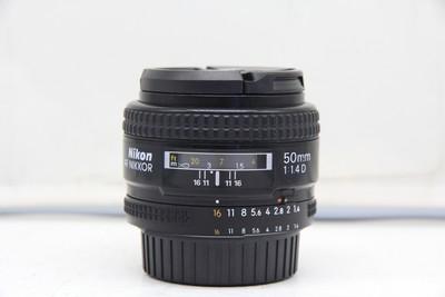 92新二手 Nikon尼康 50/1.4 D 标准定焦镜头(2325)【深】