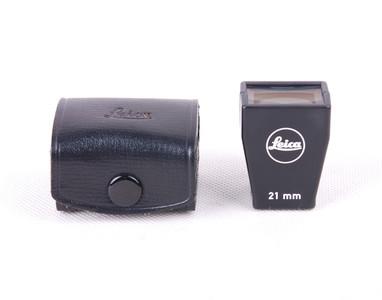 【美品】徕卡 21mm 黑色取景器 带皮套#jp18978