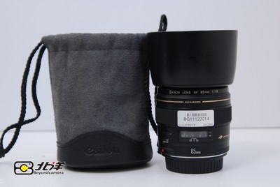98新 佳能 EF 85/1.8 USM 大陆行货带包装(BG11120014)