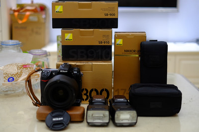 (镜头、SB900已出,白菜价)尼康 D300+SB910+卡塔摄影包