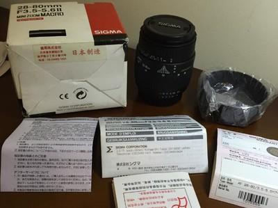 尼康口收藏级成色适马28-80mm 3.5-5.6 II代微距镜头