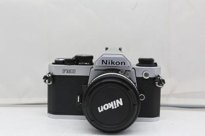 96新二手Nikon尼康 FM2 套(50/1.4)胶片机铝帘(2122)【京】