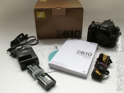 成色极好原装尼康D610单机两电原充快门五千高性价比全副相机6688