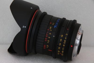 图丽11-16 T3 CINEMA全画幅电影镜头佳能口CANON EF非11-16 2.8