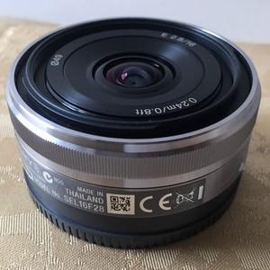 极新的索尼E16mm F2.8镜头 800元转让