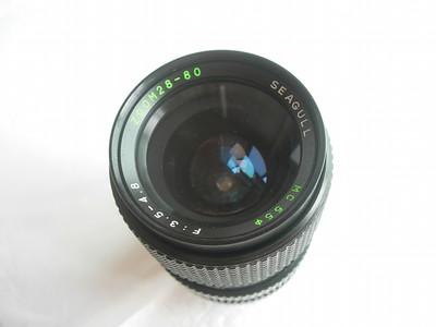 很新海鸥28--80mm金属制造镜头,可转配各种数码相机